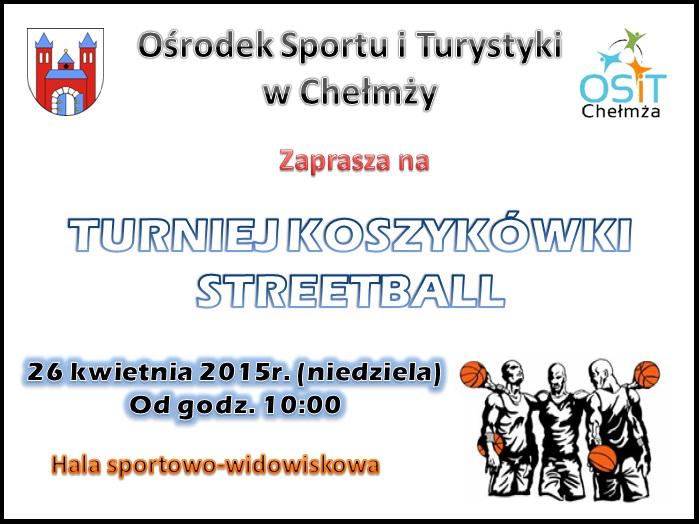 Turniej Koszykówki Streetball- plakat
