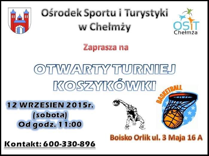 turniej koszykowki plakat