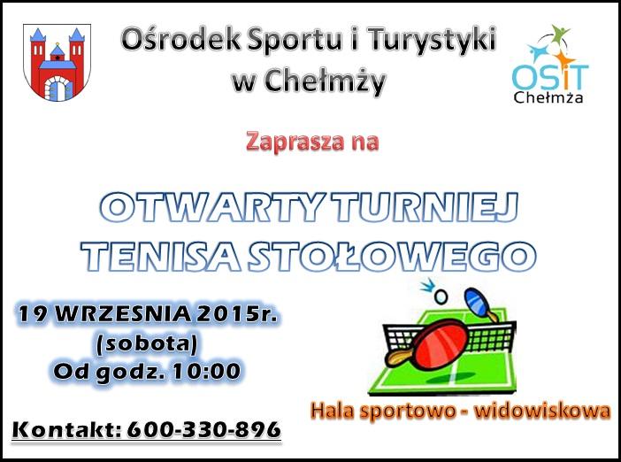 turniej tenisa stołowego plakat