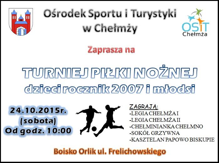 turniej p nozna 2007 i mlodsi plakat