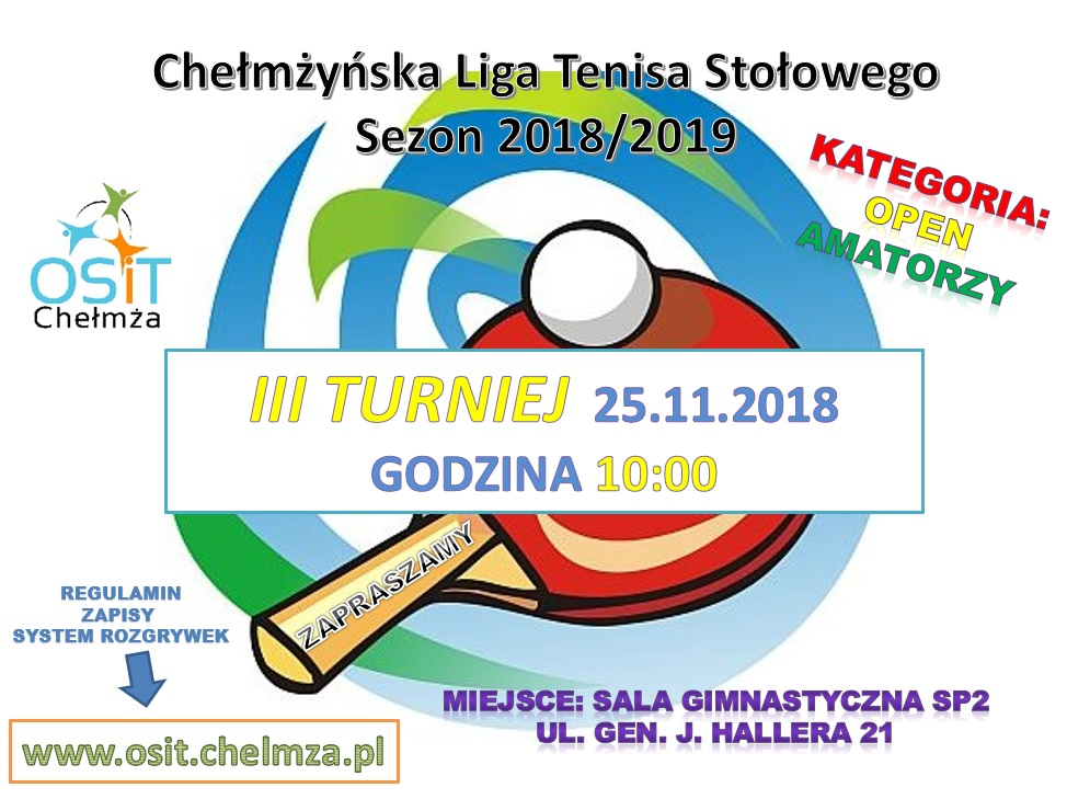 plakat III TURNIEJ 2018-2019